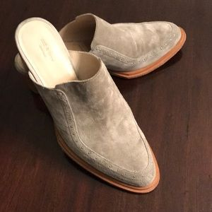 Shoes - Rag and bone grey suede mules